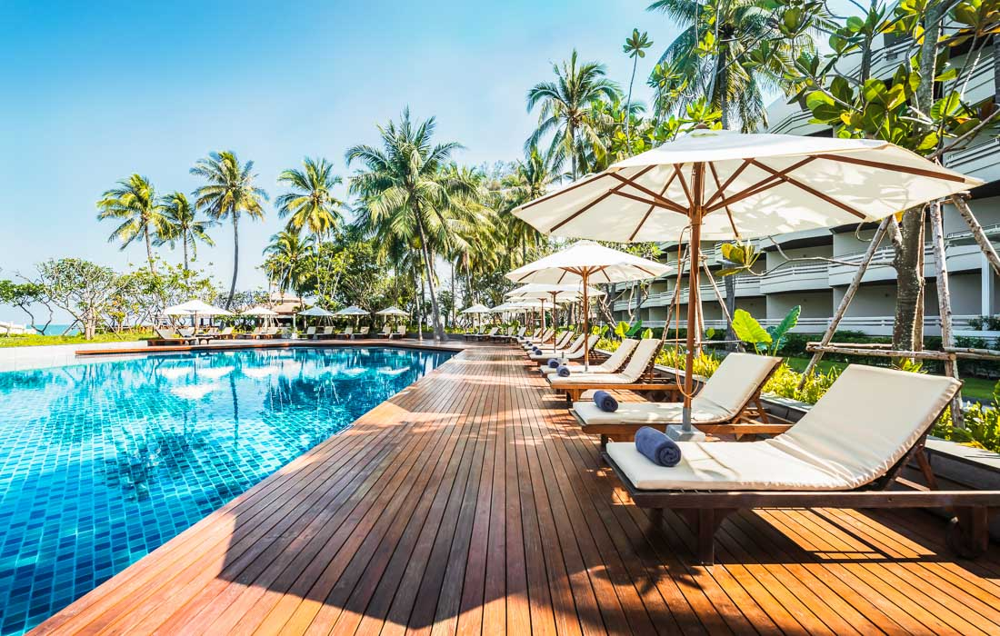Swimming pool resort huahinchaamthailand