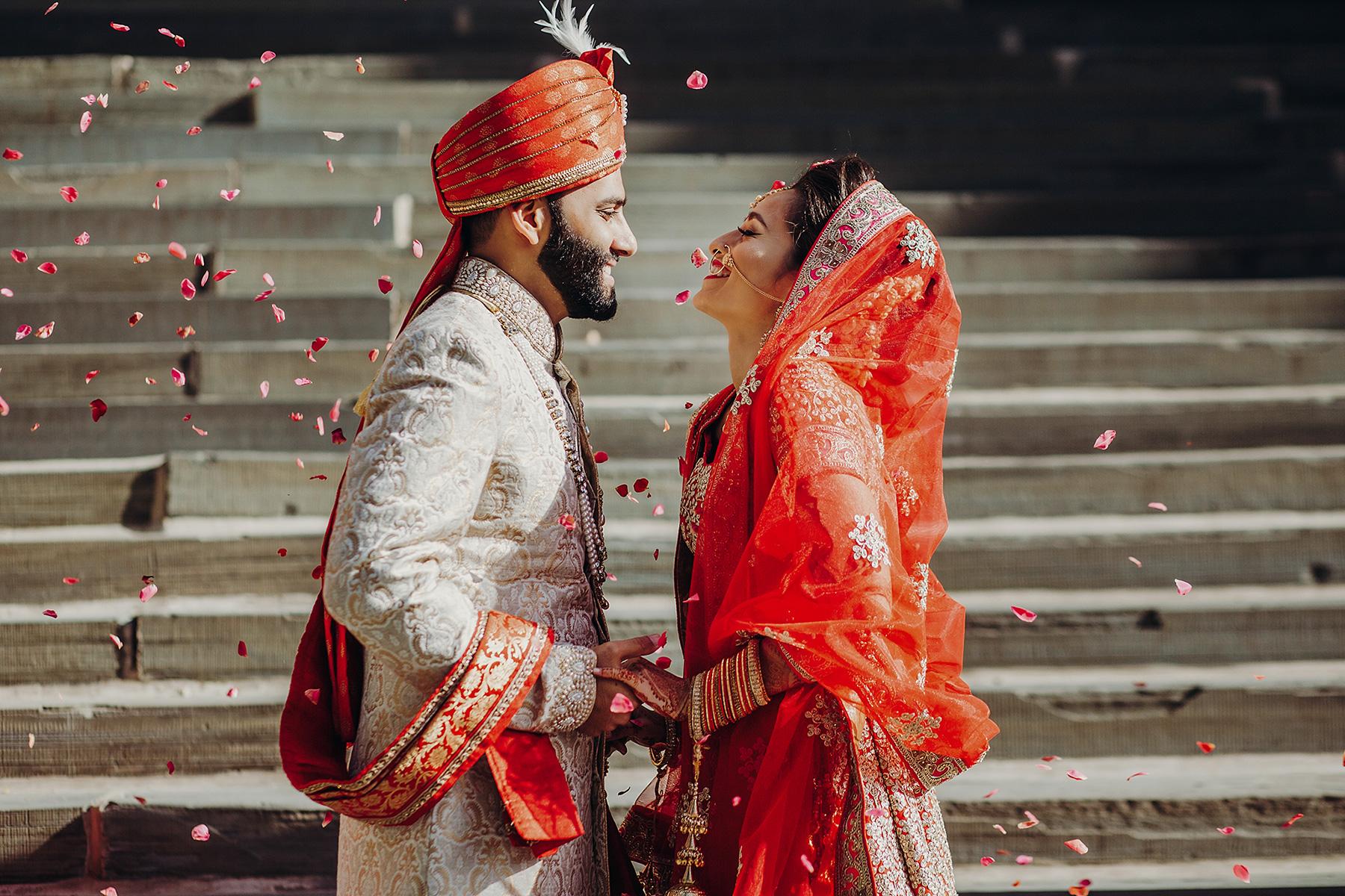 เจ้าบ่าวเจ้าสาวงานแต่งอินเดีย